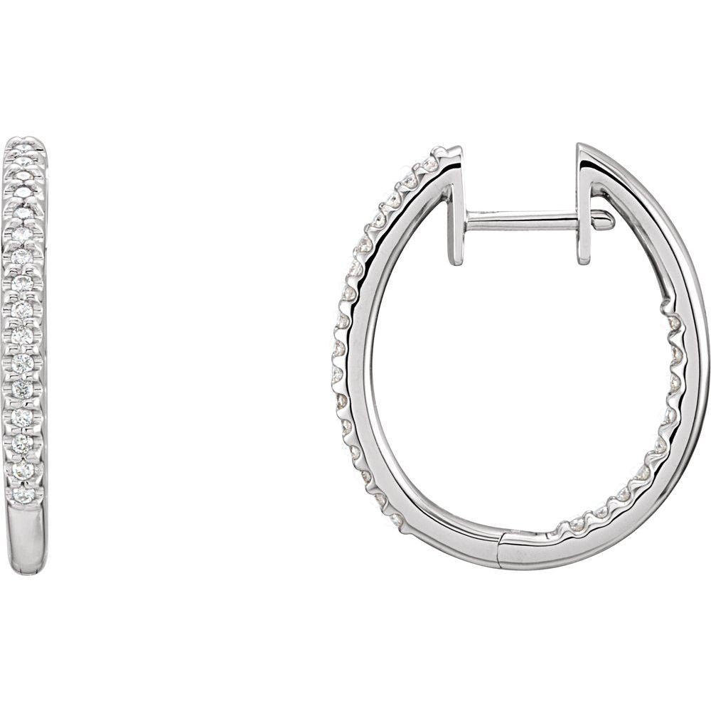 Inside-Outside Hinged Hoop Earrings (9853972)