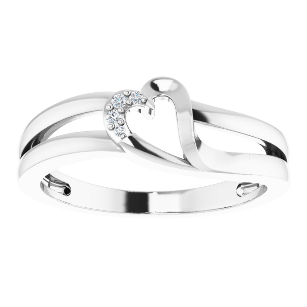 Cubic Zirconia Heart Ring (3453908)