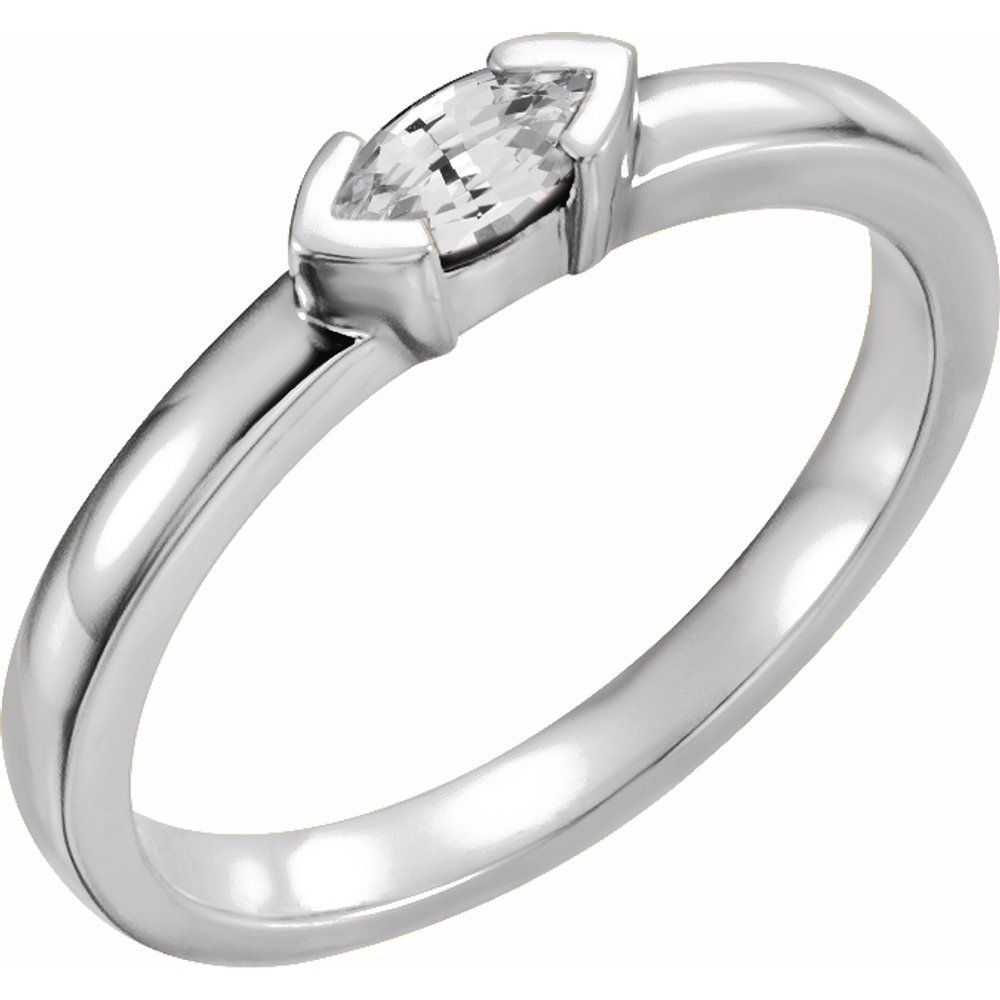 1/4 Ctw Genuine Diamond Marquise Stackable Family Ring (16232315)