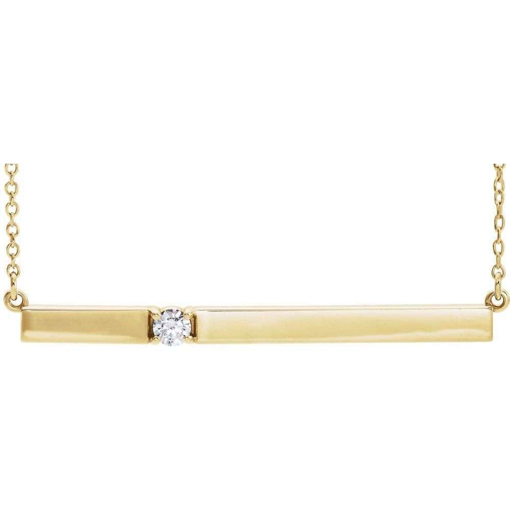 1/10Ctw Diamond Bar Necklace (10479335)