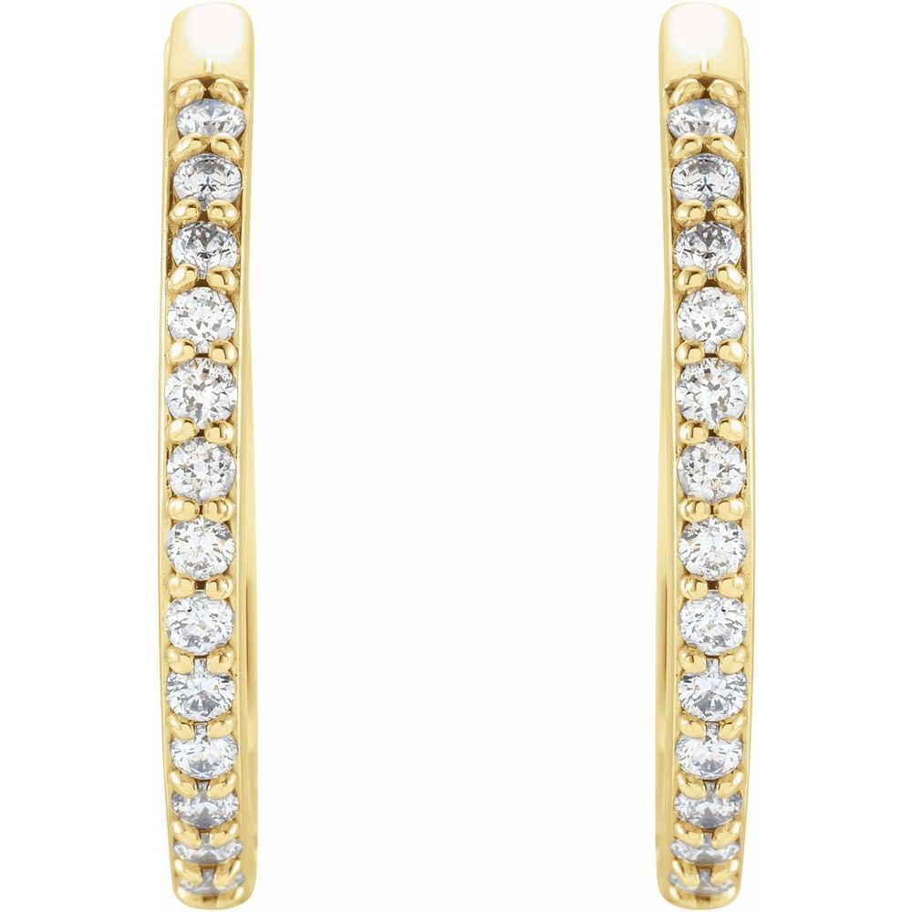 1/8 Ctw Diamond Hinged Hoop Earrings (17672488)