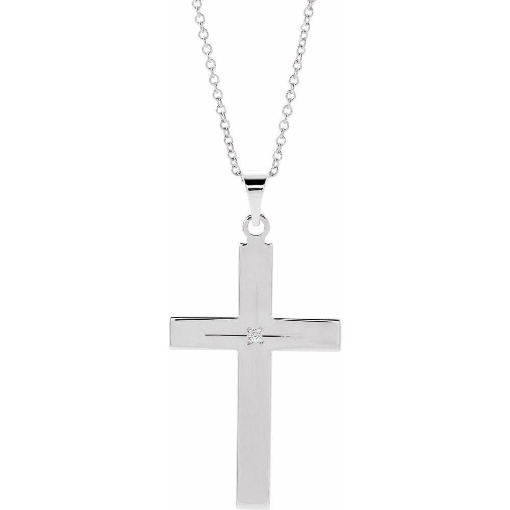 .01 Ctw Diamond Cross Necklace Necklace (14024433)