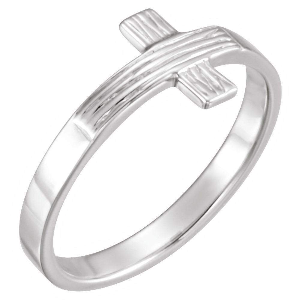 Cross Rugged Chastity Ring W/B (2295736)