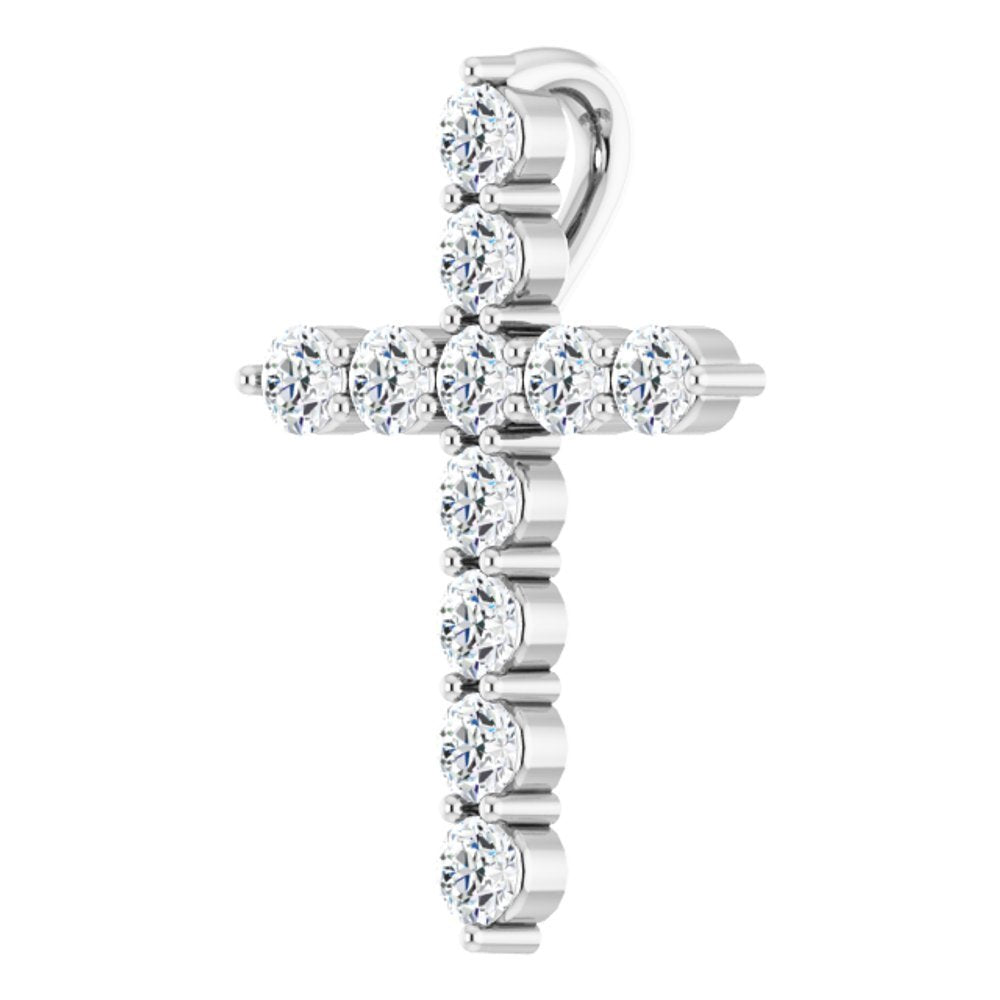 1/6 Ctw Diamond Cross Pendant (13528469)