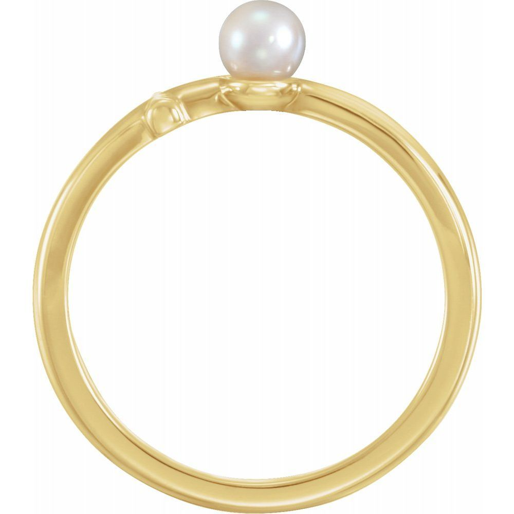 Freshwater Cultured Pearl Cross Ring (14279573)