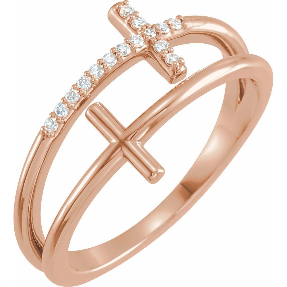 .06 Ctw Diamond Sideways Cross Ring (16291243)