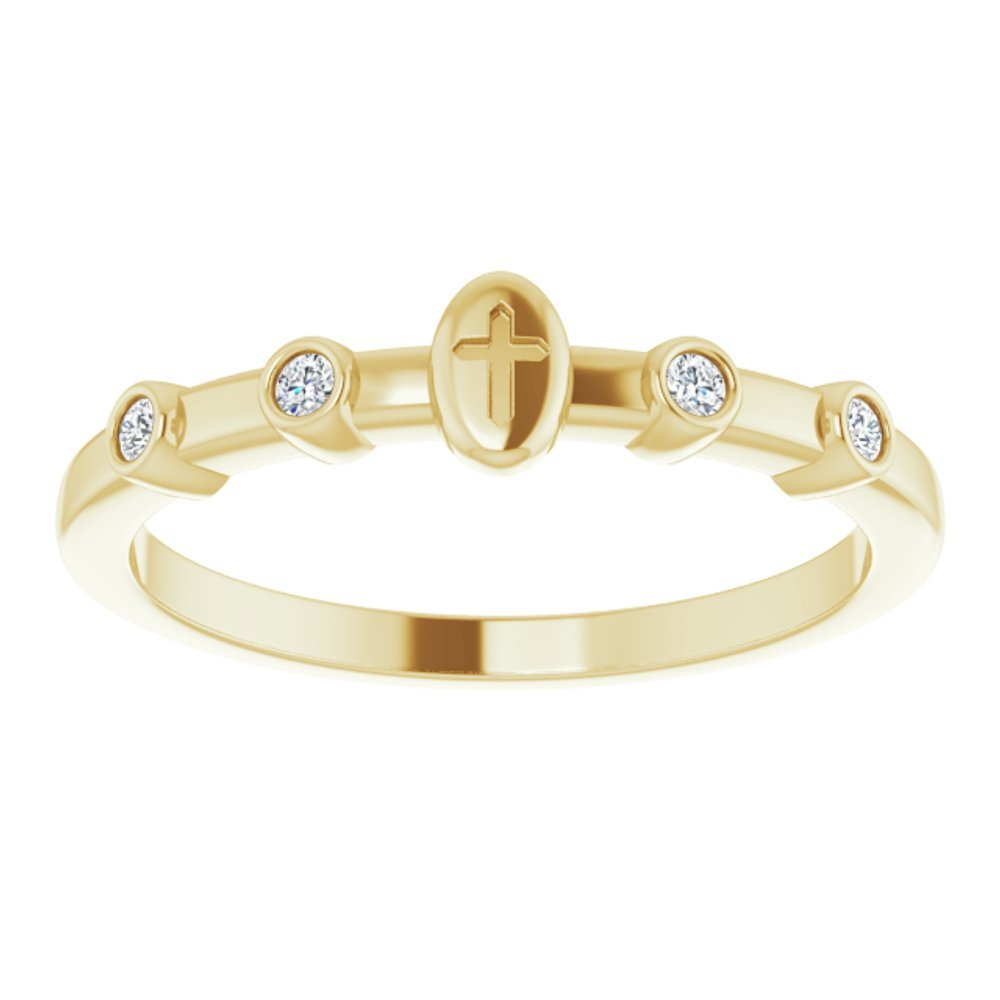 .05 Ctw Diamond Stackable Cross Ring (16510964)