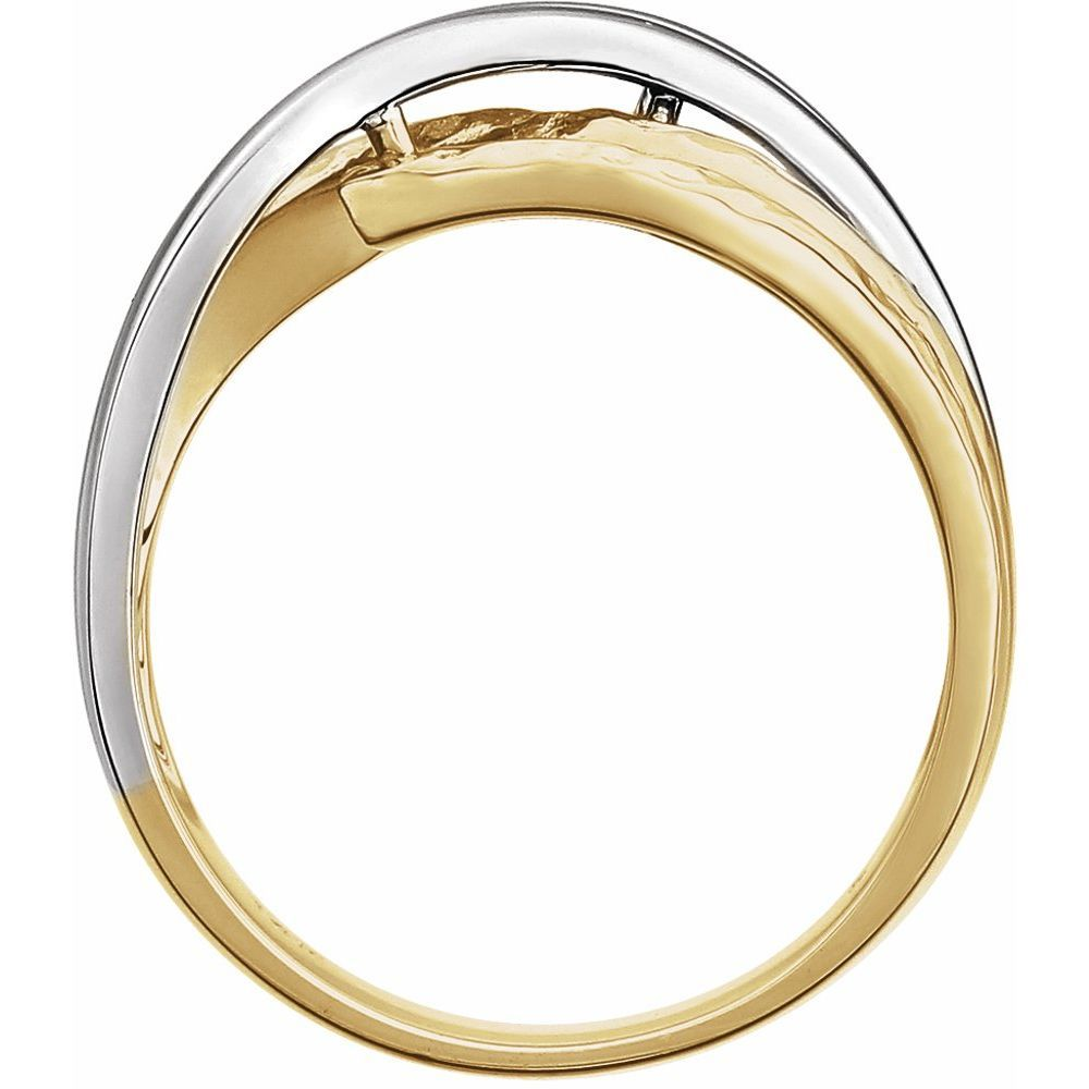 Overlap Hammered Ring (10472047)
