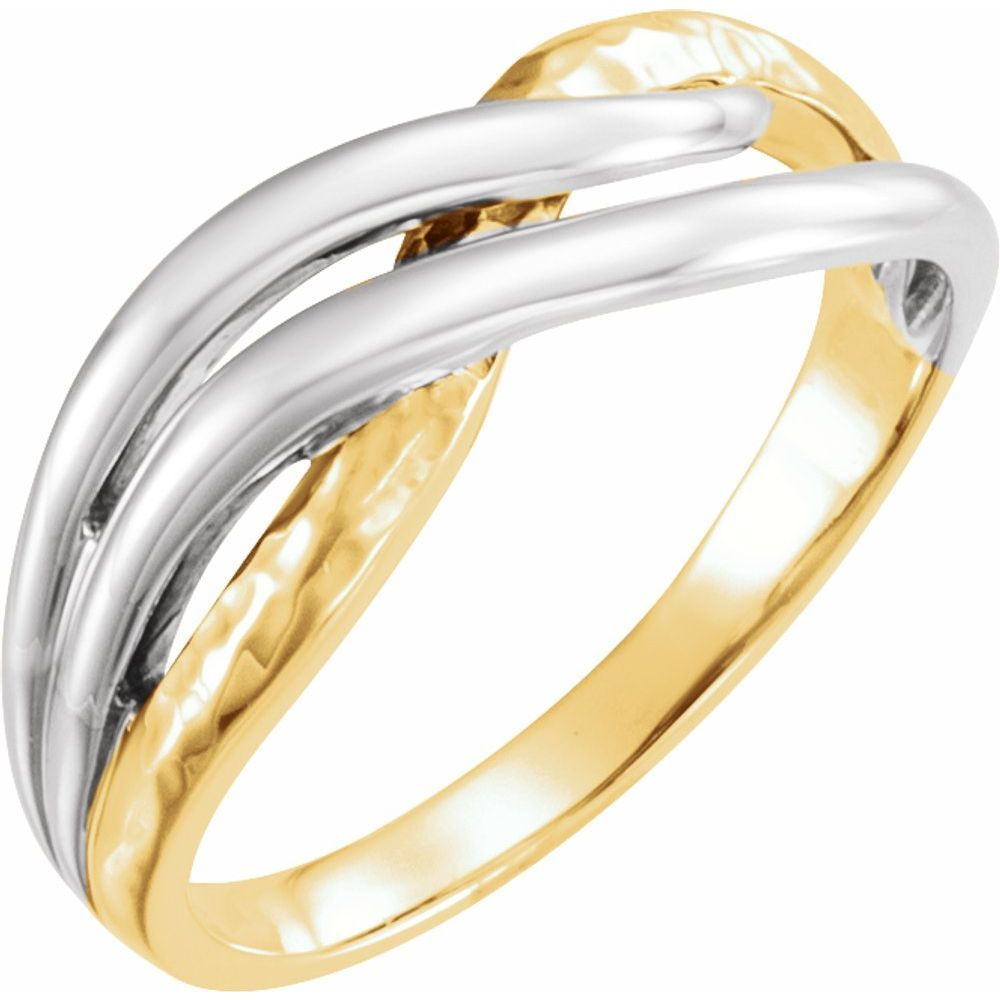 Overlap Hammered Ring (10472053)