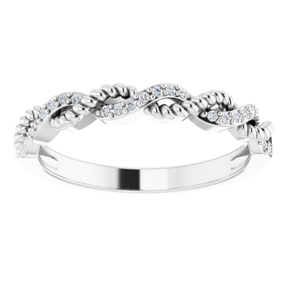 .08 Ctw Diamond Stackable Ring (11877726)