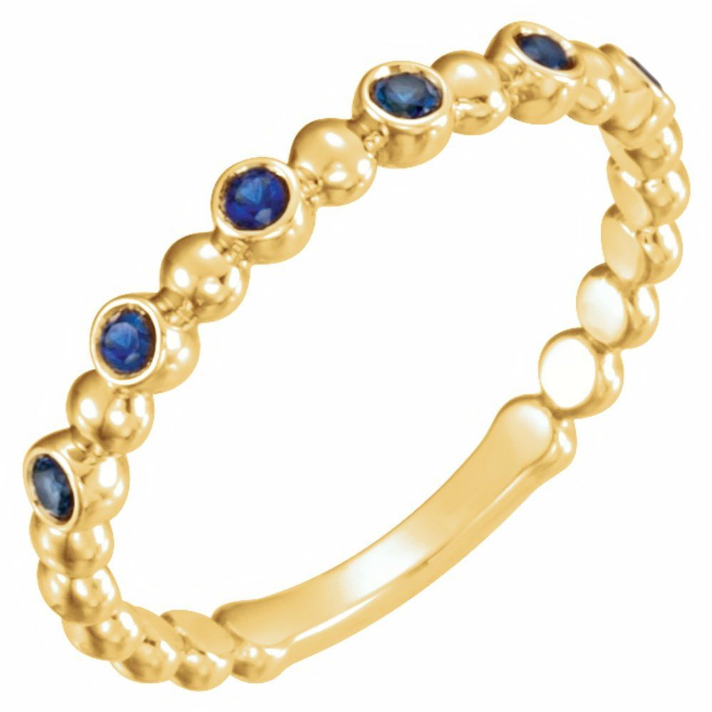 Genuine Blue Sapphire Stackable Ring (12094140)