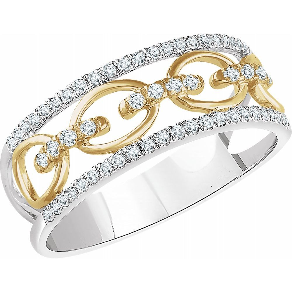 1/4 Ctw Diamond Link Ring (12645438)