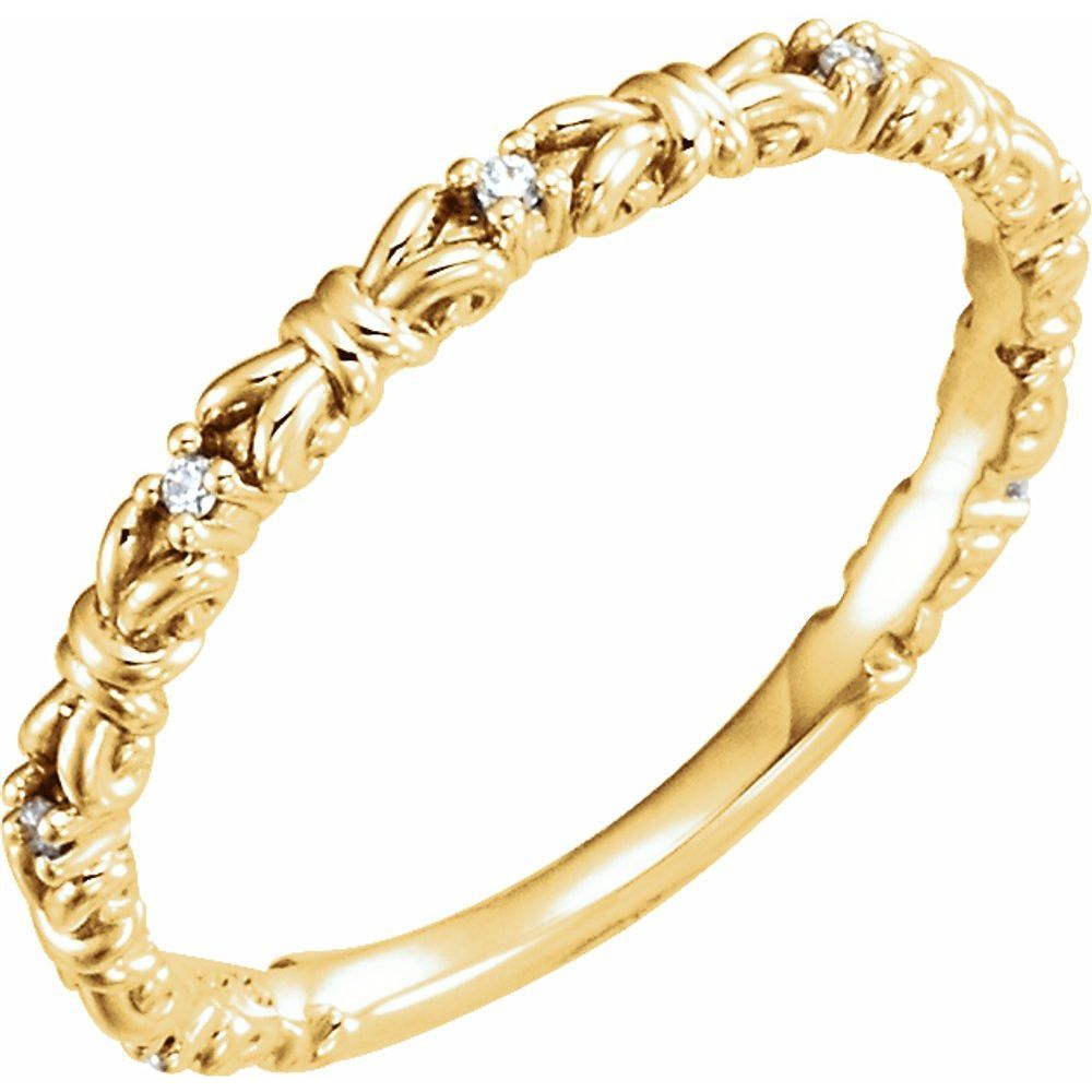 .04 Ctw Diamond Stackable Ring (12705632)