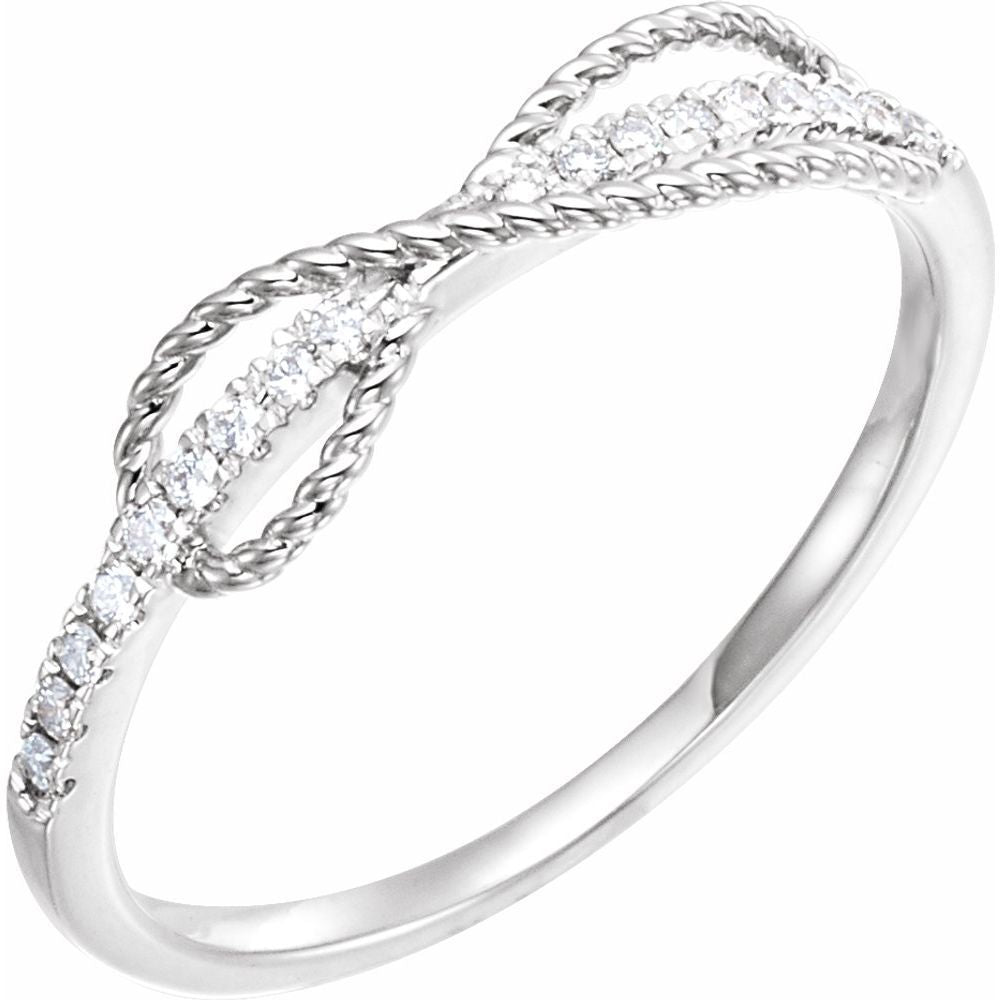 1/10 Ctw Diamond Infinity Ring (12756134)