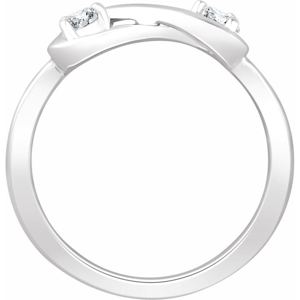 1/4 Ctw Diamond Infinity Style Ring (13034813)