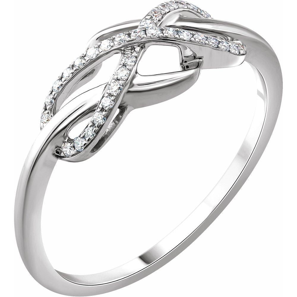 1/10 Ctw Diamond Infinity-Inspired Ring (13327478)