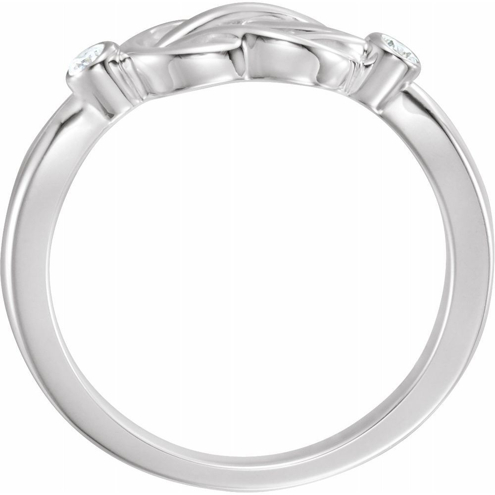 .06 Ctw Diamond Knot Ring (2917143)