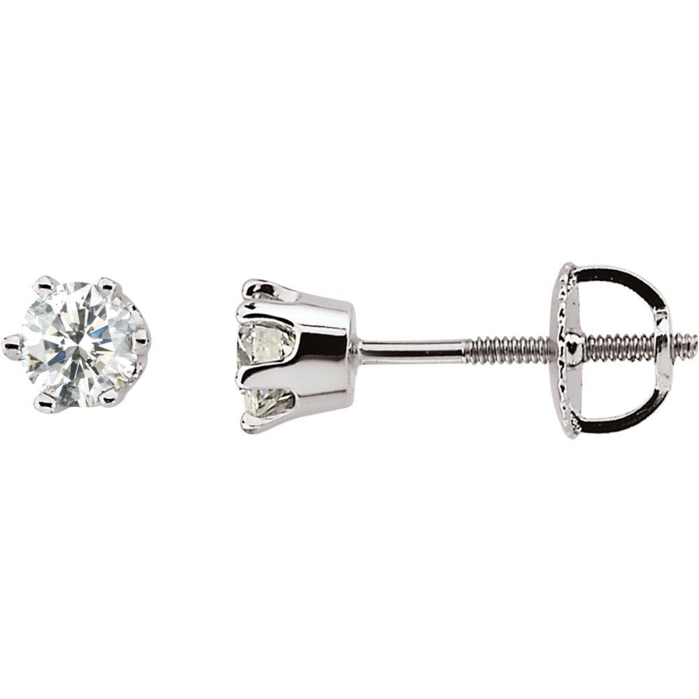 Diamond Stud Earrings (18040164)