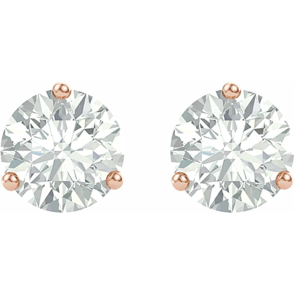 Forever One Colorless Created Moissanite Stud Earrings (12886705)