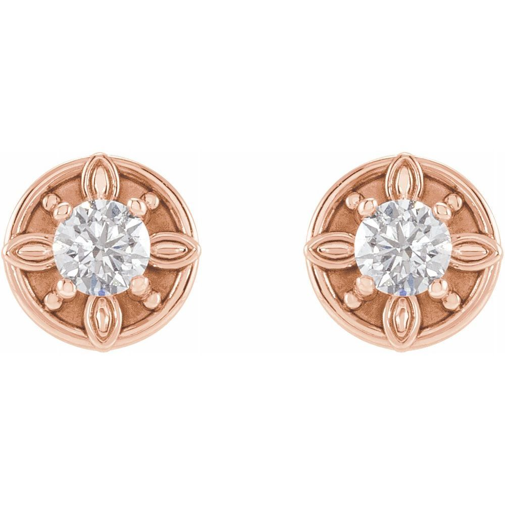 1/5 Ctw Diamond Solitaire Stud Earrings (17862296)