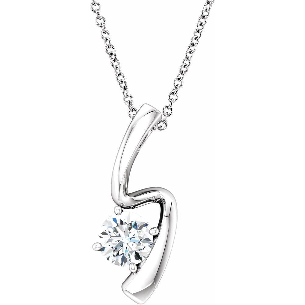 Forever One Colorless Created Moissanite Pendant (12816059)