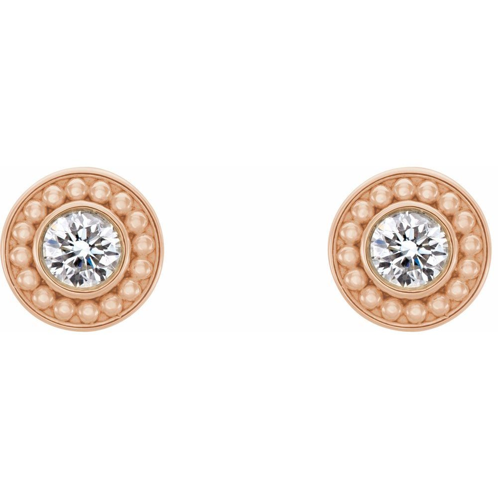 Colorless Created Moissanite Beaded Earrings (13789790)