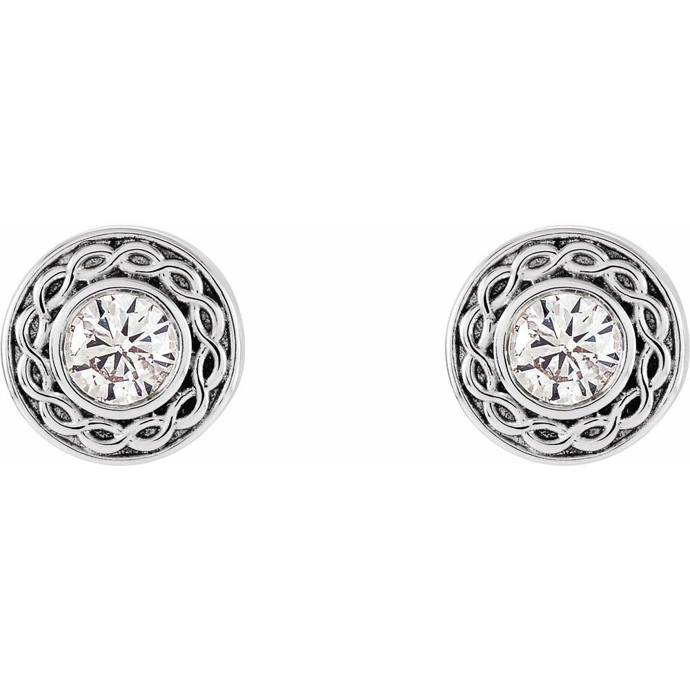 Colorless Created Moissanite Earrings (13789793)