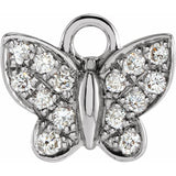 0.06 Ctw Diamond Butterfly Dangle (17801258)
