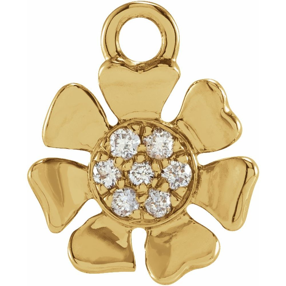 0.03 Ctw Diamond Flower Dangle (17801267)