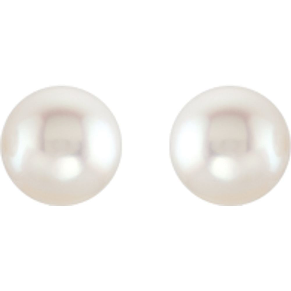 Freshwater Cultured Pearl Earrings With Backs (9443957)
