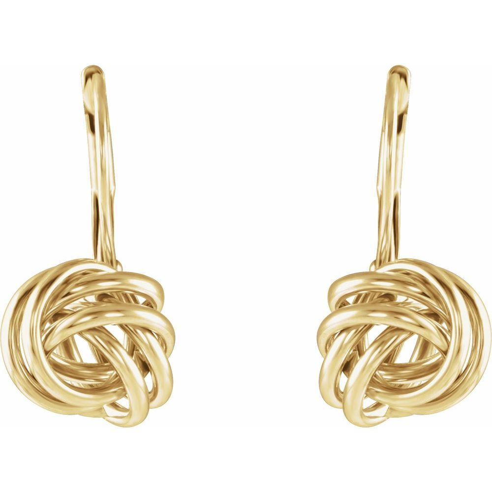 10mm Knot Lever Back Earrings (13719805)