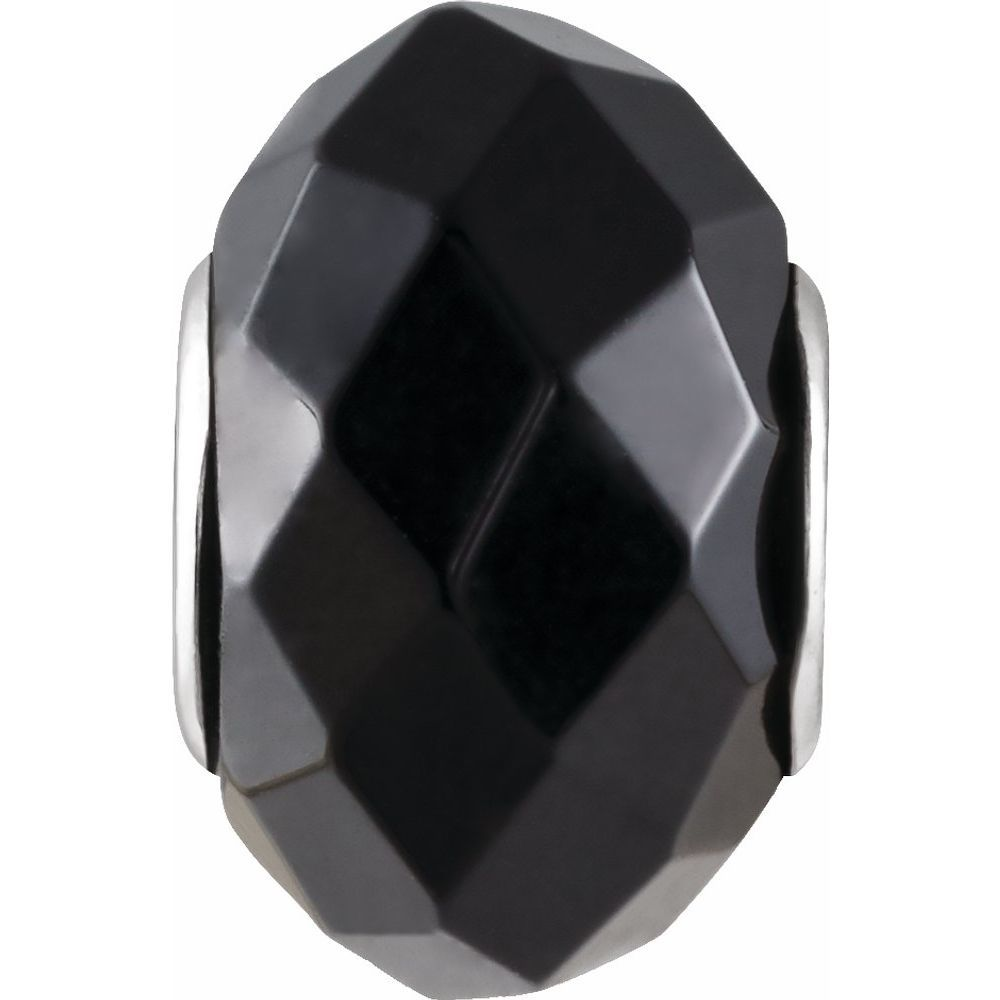 Kera Faceted Onyx Natural Stone Bead (2765253)