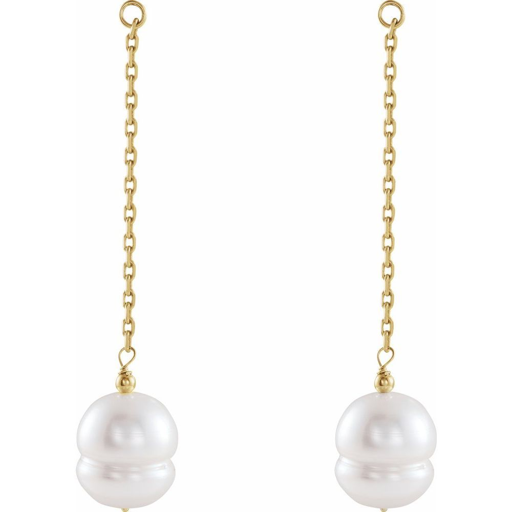 Freshwater Cultured Pearl Earring Jackets (2168469)