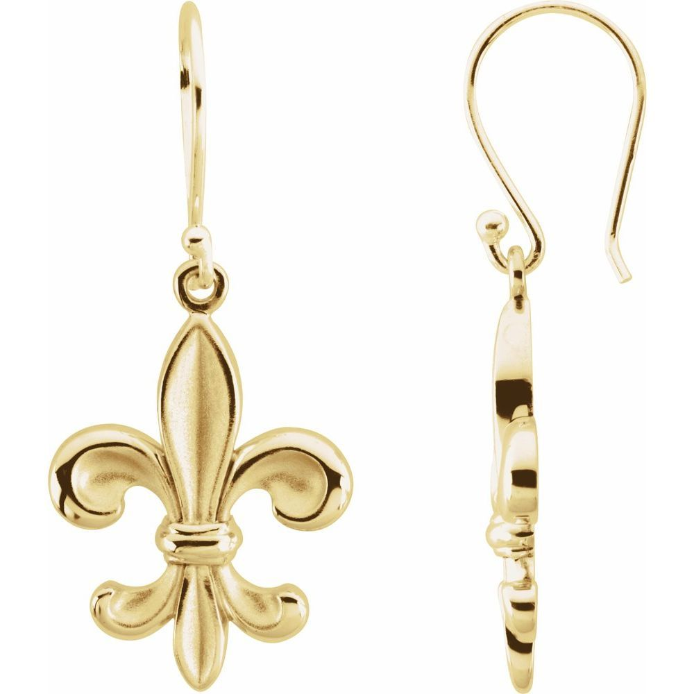 Fleur-De-Lis Dangle Earring (16070117)