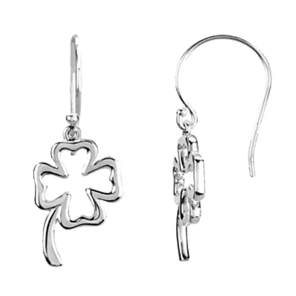 Gold Fash Tiny Clover Earrings (2744468)