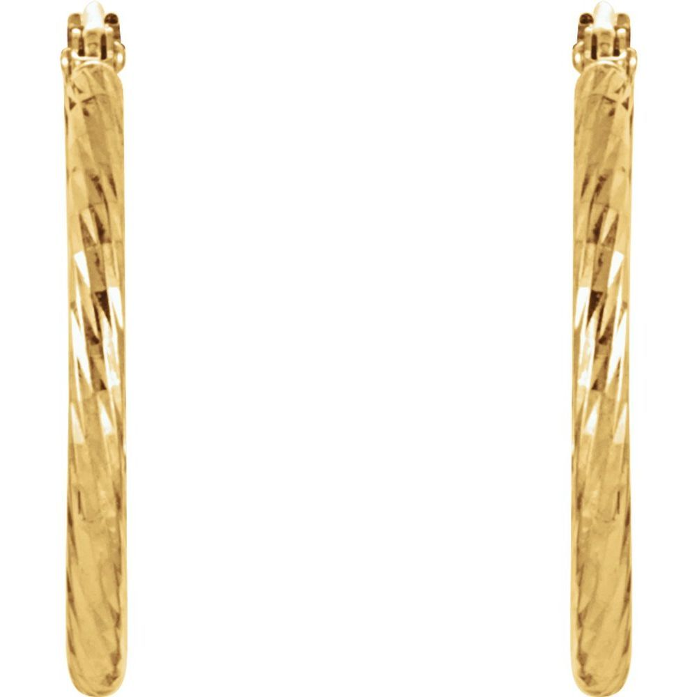 Diamond Cut Hoop Earrings (9760489)