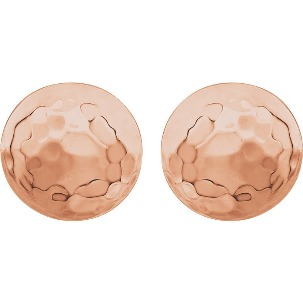 9.2mm Hammered Disk Stud Earrings (10469656)