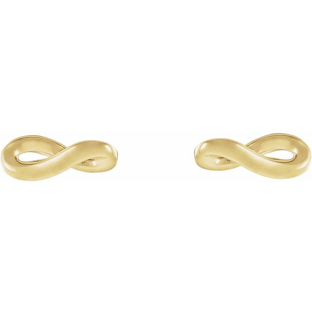 Infinity-Inspired Earring With Back (13326744)