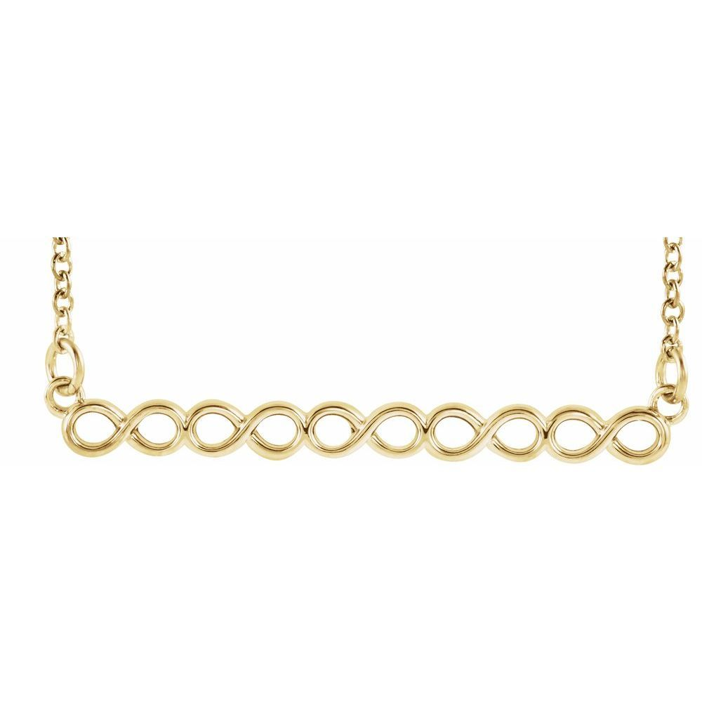 Infinity Inspired 16-18 Inch Bar Necklace (13666721)