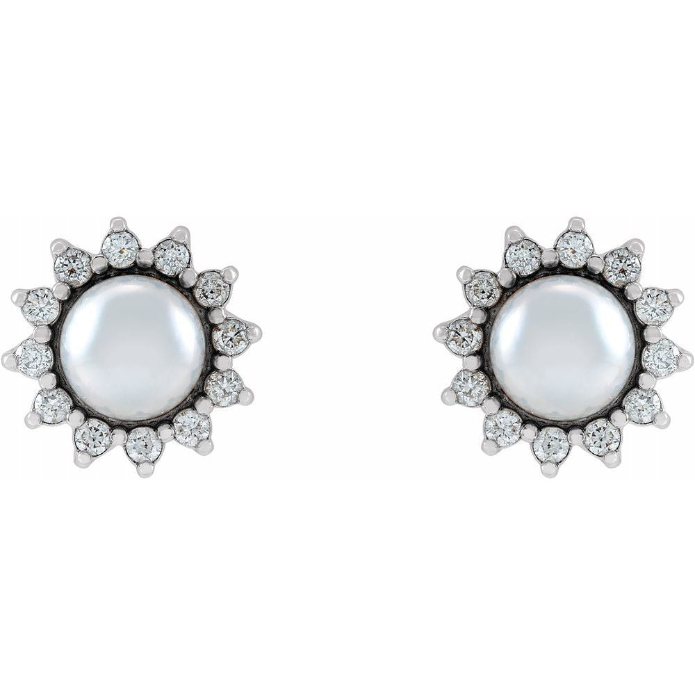 Diamond-Accented Stud Earrings (17342919)