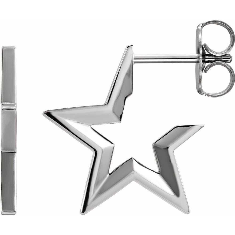 Star Hoop Earrings (17399414)