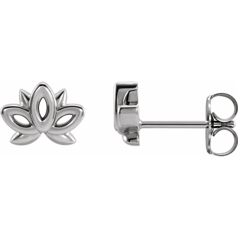 Lotus Stud Earrings (17440356)