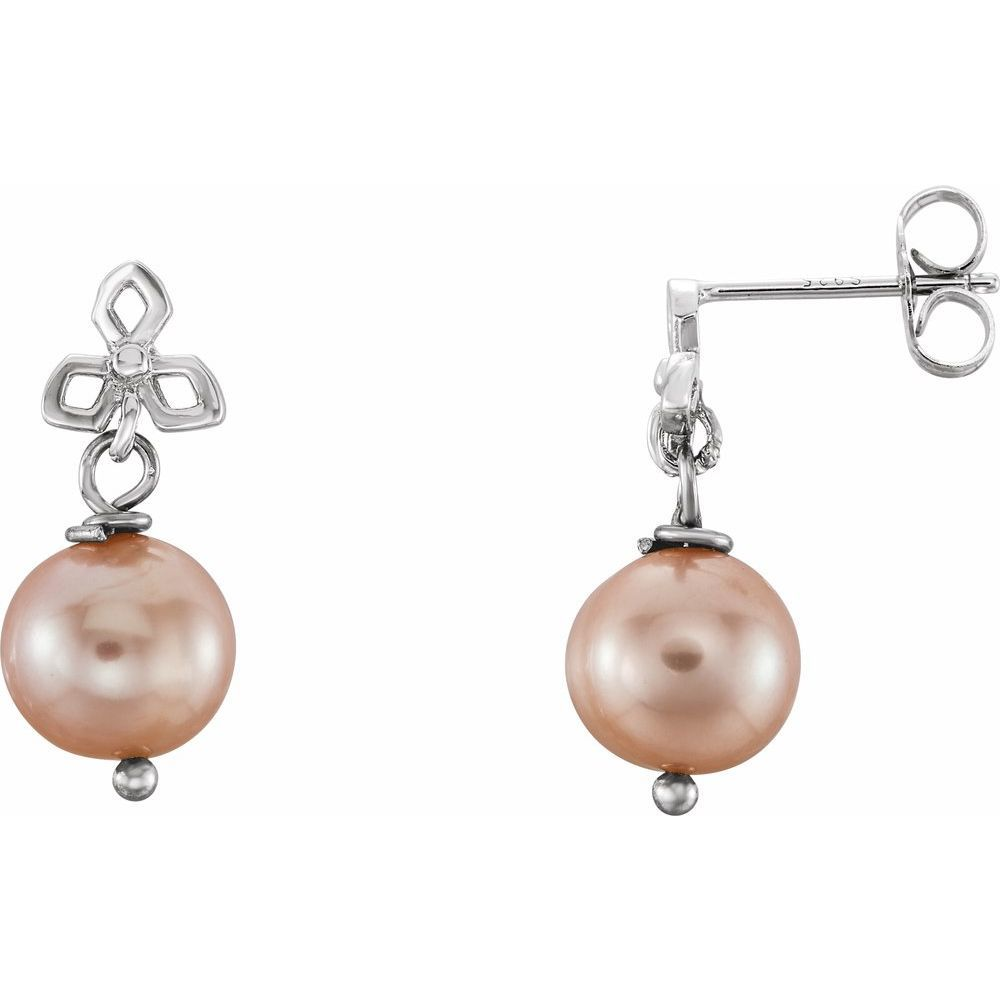Freshwater Cultured Pearl Earrings With Backs (9893985)