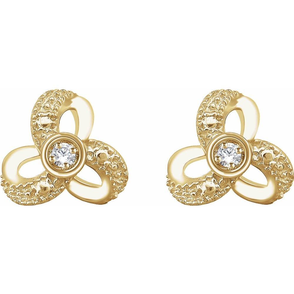 1/6 Ctw Diamond Knot Earrings With Backs (13304818)