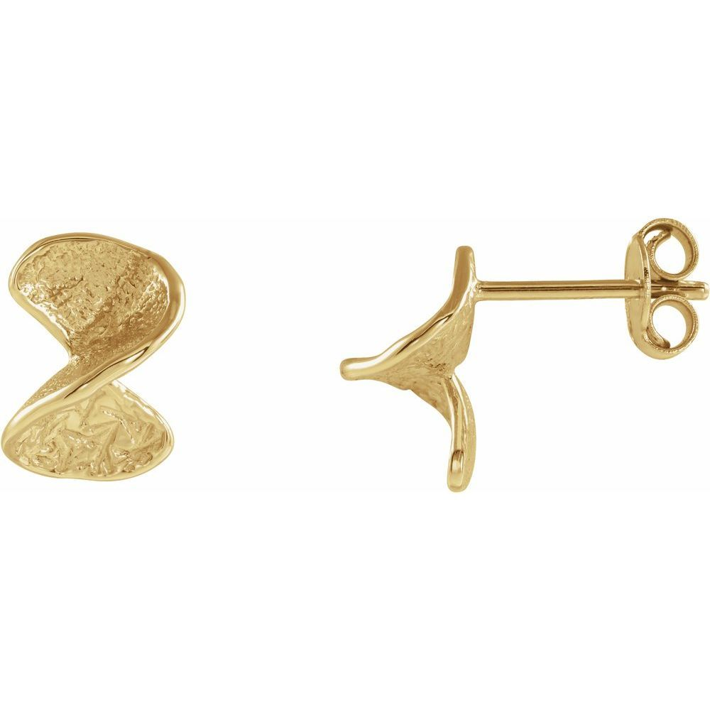 Twisted Stud Earrings With Backs (15106727)