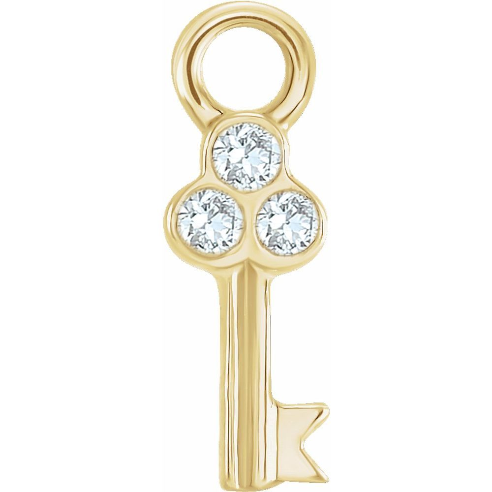 .015 Ctw Diamond Key Dangle (17623496)