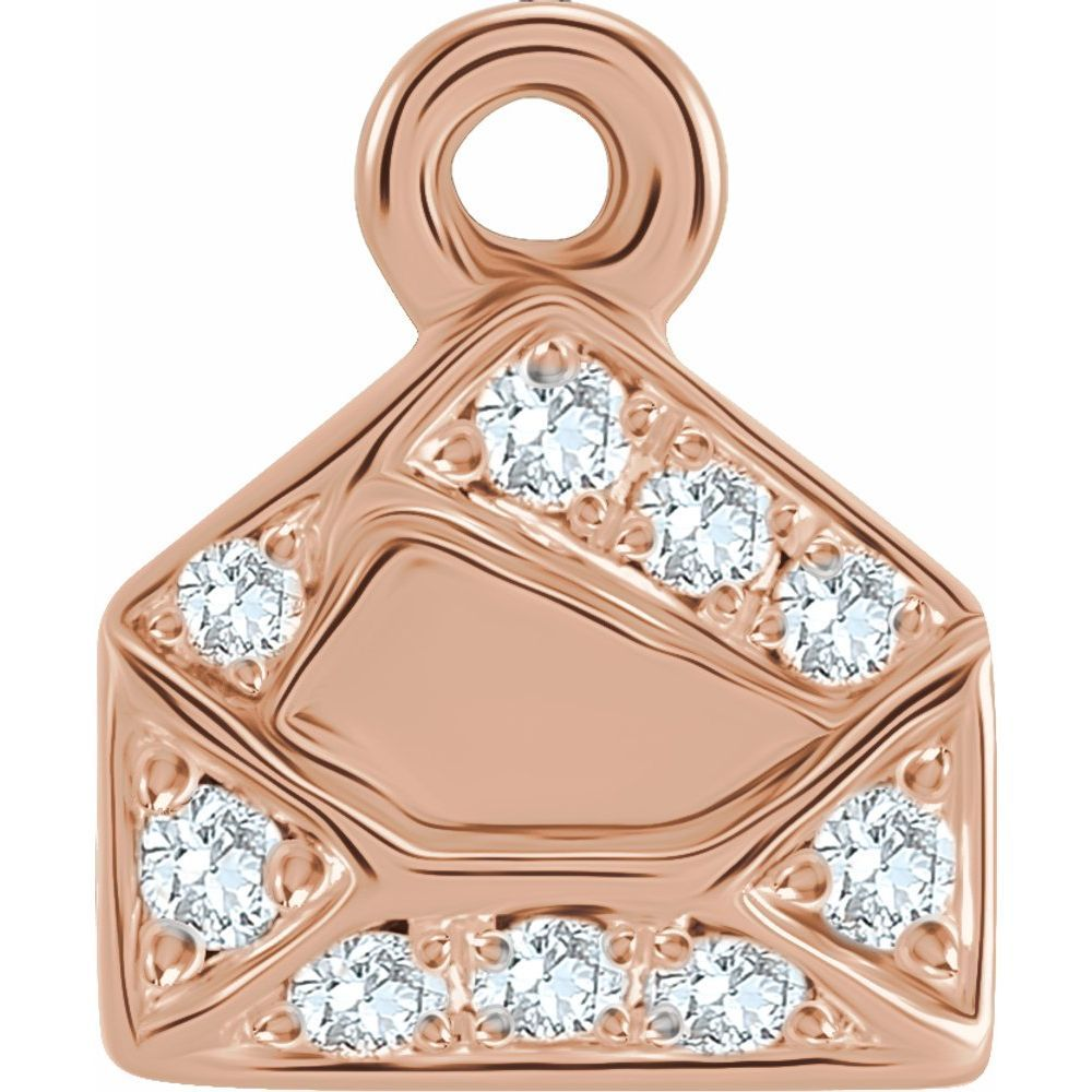 .06 Ctw Diamond Envelope Dangle (17623523)