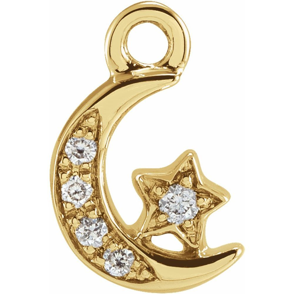 0.02 Ctw Diamond Moon And Star Dangle (17801255)