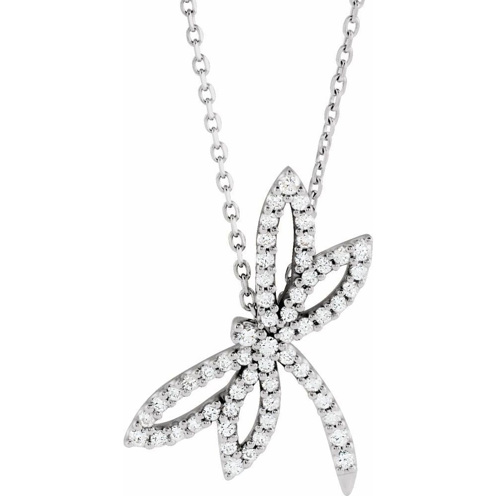 Diamond Dragonfly Necklace (2606490)