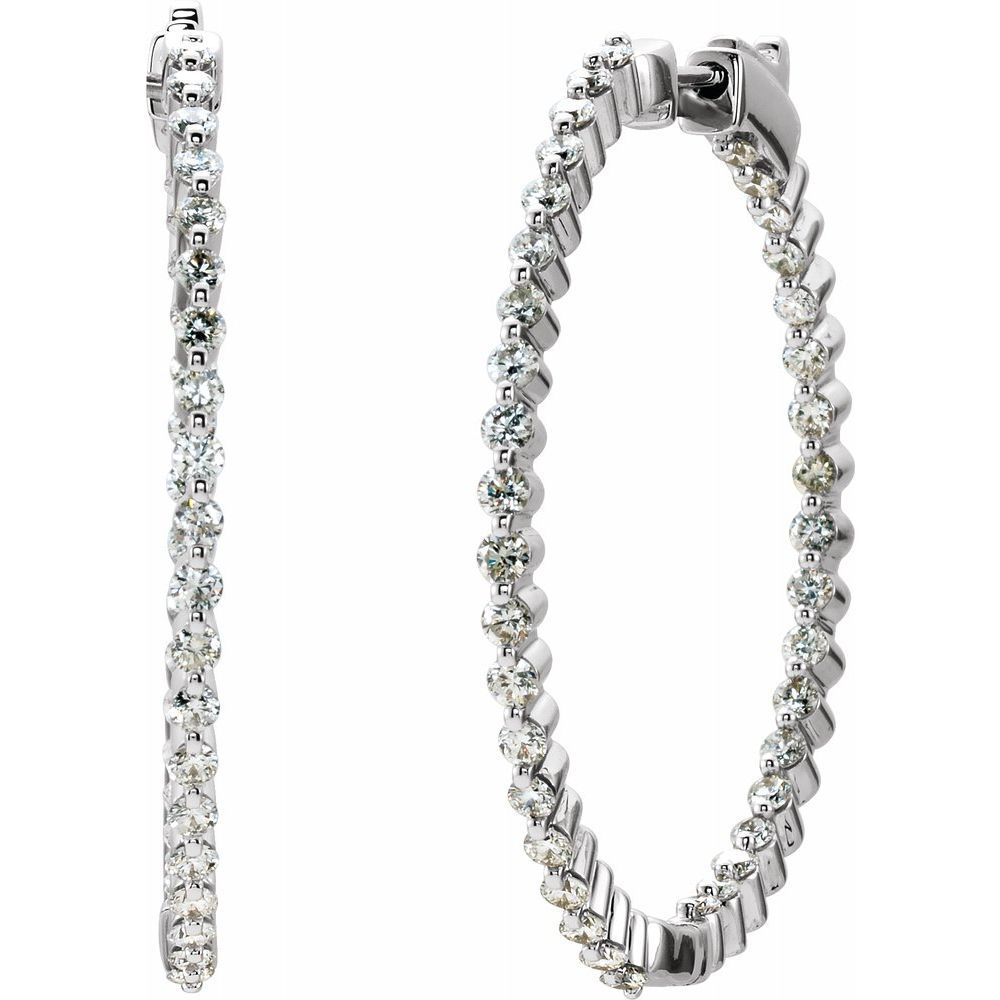 Diamond Inside-Outside Hinged Hoop Earrings (2685226)